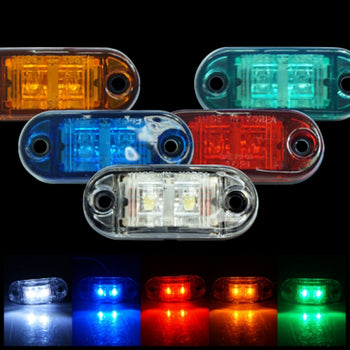 24V 2LED Mini Side Marker Light Lamp Wing Colorful - KoreaAutoAccessory