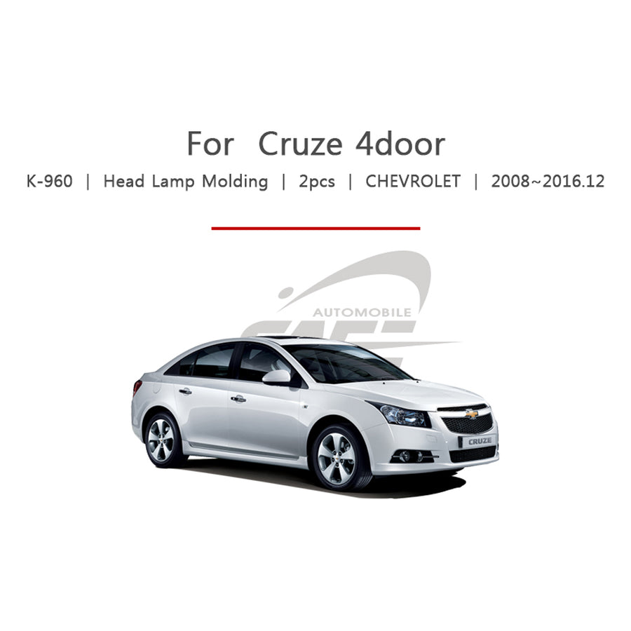 2pcs Chevrolet Fit Cruze 4 Door Head Lamp Cover Molding - KoreaAutoAccessory