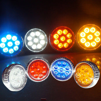 12V-24V LED Fog Light Day Running Light Colorful - KoreaAutoAccessory