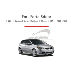 10pcs Kia Fit Forte 5 Door Carbon Interior Molding - KoreaAutoAccessory