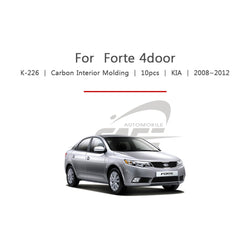 10pcs Kia Fit Forte 4 Door Carbon Interior Molding - KoreaAutoAccessory