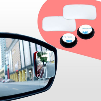 2pcs Car Rearview Mirror Blind Spot Side Rectangle View Wide Angle Adjustable