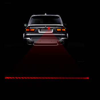 Car LED Red Laser Beam Warning Sign Light Fog Anti-Collision Taillight Rear Brake Parking - KoreaAutoAccessory