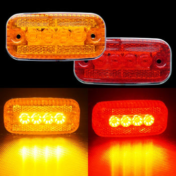 24V 4LED Side Marker Light Yellow Red - KoreaAutoAccessory