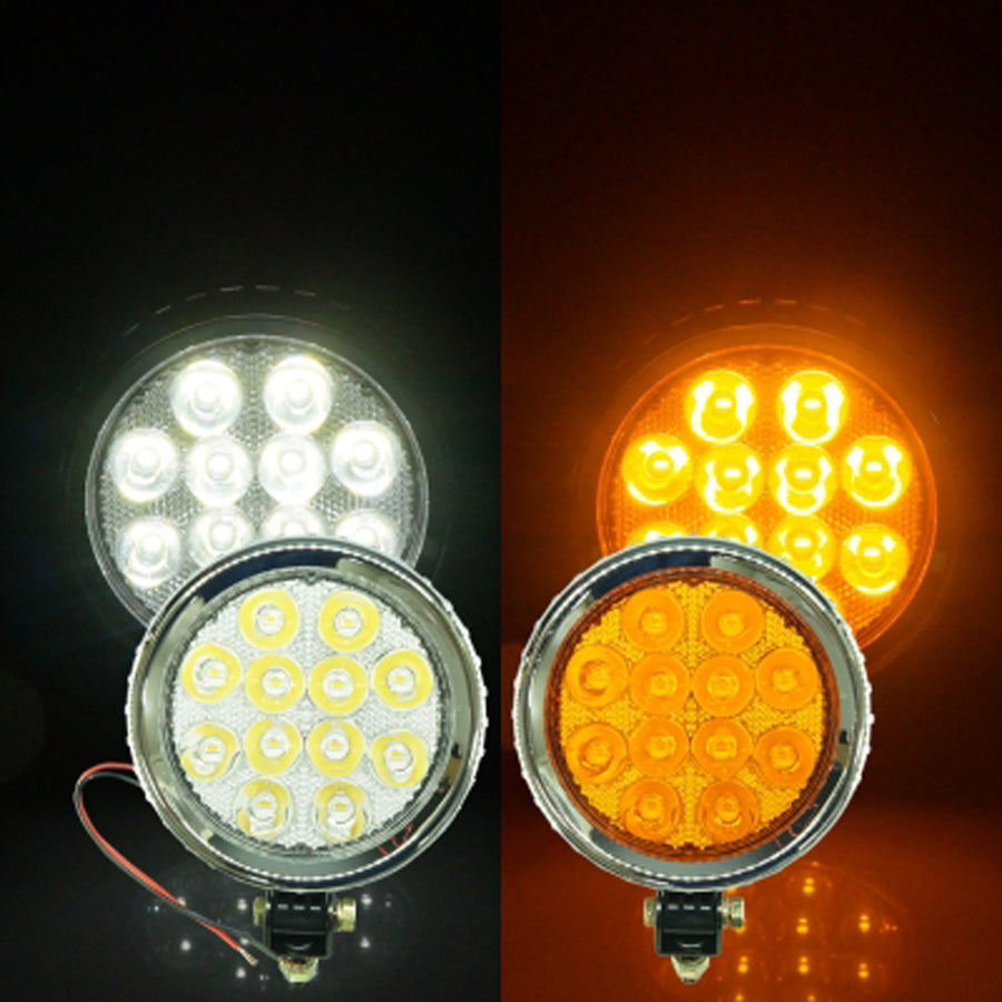 12V-24V White Yellow LED Car Emergency Warning Strobe Flashing Light - KoreaAutoAccessory