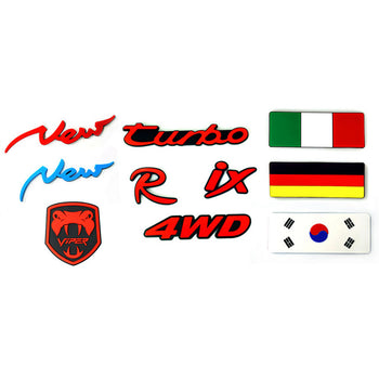 Car Vehicle Emblem Mark National Flags