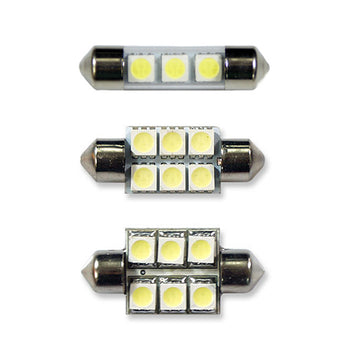 12V Car Light Bulbs Festoon Base 5050 LED 36mm 1.42in 3 SMD 6 SMD Interior Trunk Luggage - KoreaAutoAccessory