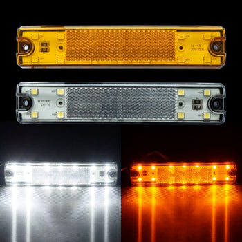 12V-24V LED Side Marker Light White Yellow - KoreaAutoAccessory