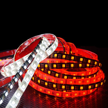 12V/24V 30CM 11.81in Switchback 4-colored LED Strip Light Taillight Brake Turn Signal Waterproof - KoreaAutoAccessory