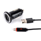 2.4A Cigar Cigarette Lighter Socket Charger & Micro USB LED Cable - KoreaAutoAccessory