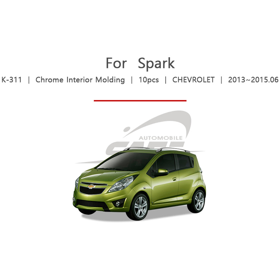 10pcs Chevrolet Fit Spark Chrome Interior Molding - KoreaAutoAccessory