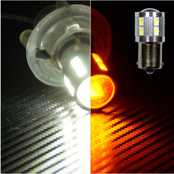 12V-24V Switchback Dual-colored Ba15S 1156 16 SMD LED Turn Signal with TSM Module - KoreaAutoAccessory