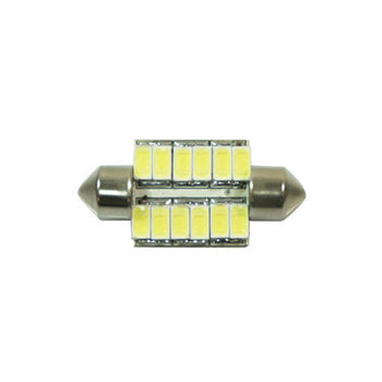 12V Car Light Bulbs Festoon Base 5730 LED 36mm 1.42in 12 SMD Interior Trunk Luggage - KoreaAutoAccessory
