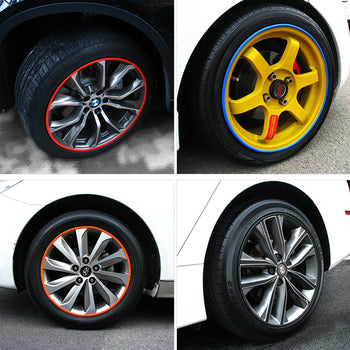 Vehicle Wheel Silicone Rim Protector Tire Guard Line Rubber Strip Sticker