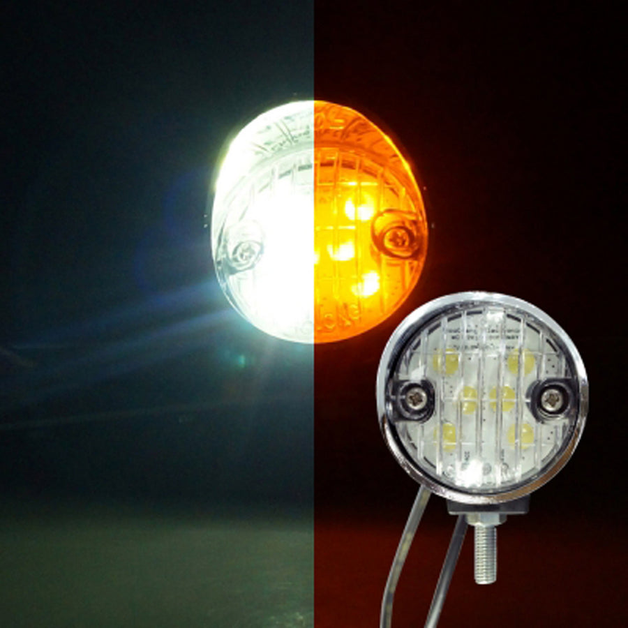12V Side Marker Light White Yellow Switchback - KoreaAutoAccessory