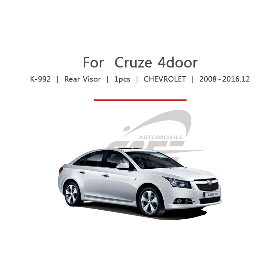 1pc Chevrolet Fit Cruze 4 Door Rear Roof Window Visor - KoreaAutoAccessory
