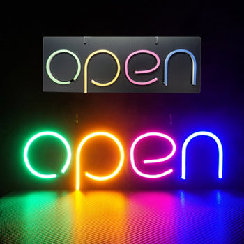 """OPEN"" Silicon LED Neon Light 12V Business Store Shop Signs Food Truck"