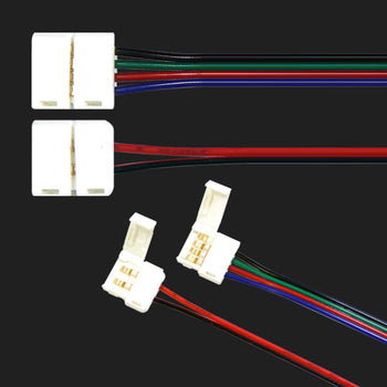 2P 4P LED Strip Light Connector Cable Solder Free - KoreaAutoAccessory