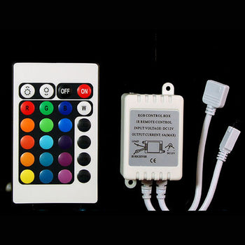 12V/24V 16 Colors RGB LED Module + Remote Controller - KoreaAutoAccessory