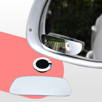 2pcs Car Rearview Mirror Blind Spot Side Long Rectangle View Wide Angle Adjustable