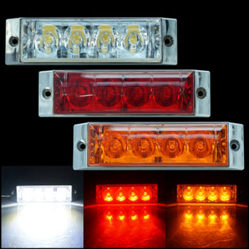 24V 4LED Side Marker Light Lamp Wing White Red Yellow - KoreaAutoAccessory