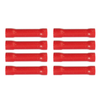 8pcs Heat Shrink Butt Wire Connectors Electrical Crimp Terminals Kit Red - KoreaAutoAccessory