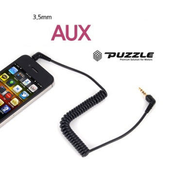 PUZZLE 4Pole AUX Charger Electronic Cable 1p For Universal Vehicles Car 1.1M