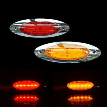 24V 6LED Side Marker Light Yellow Red - KoreaAutoAccessory