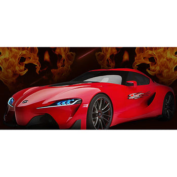 Car Decal Vinyl Sticker Flame