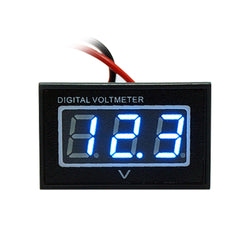 12V 2 Wire Blue LED Digital Display Panel Car Auto Voltmeter Voltage Gauge Tester Monitor
