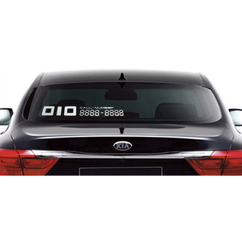 Car Decal Vinyl Sticker Call Number