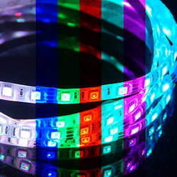 24V 5M LED Flexible Strip Light 5050 LED Waterproof 7 Colors RGB - KoreaAutoAccessory