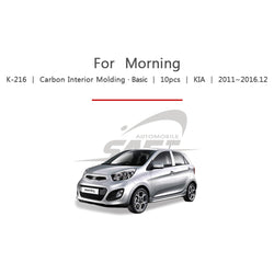 10pcs Kia Fit Picanto Carbon Interior Molding - KoreaAutoAccessory