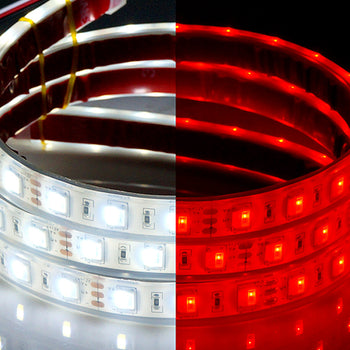12V/24V 5M White Red Switchback LED Strip Light Taillight Brake Turn Signal Waterproof - KoreaAutoAccessory
