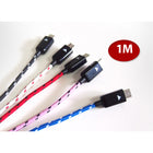 1M Braided Aluminum Micro USB Data Sync Charger Cable - KoreaAutoAccessory