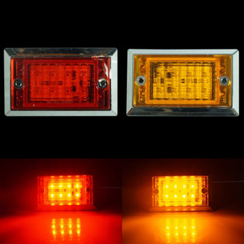 24V Square Side Marker Light Lamp Wing - KoreaAutoAccessory