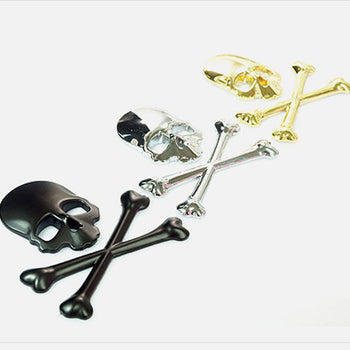 Car Vehicle Emblem Metal Skull Wing