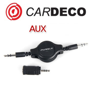 PUZZLE AUX Charger Electronic Reel Type Cable 1p For Universal Vehicles Car