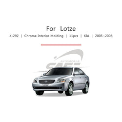 11pcs Kia Fit Lotze Chrome Interior Molding - KoreaAutoAccessory