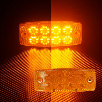 24V Switchback 8 LED Side Marker Light Yellow - KoreaAutoAccessory