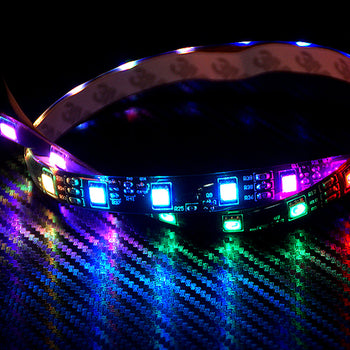 12V 50CM 19.69in LED Flexible Strip Light 5050 LED Waterproof 6 Colors RGB with Built-in Controller - KoreaAutoAccessory
