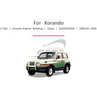 10pcs Ssangyong Fit Korando Chrome Interior Molding - KoreaAutoAccessory