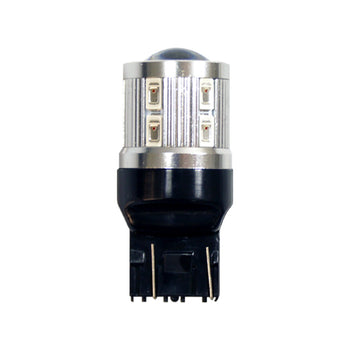 12V-24V Highpower Miniature Bulb T20 Wedge 7443 LED with Projector Lens Back Up Reverse Turn Signal - KoreaAutoAccessory