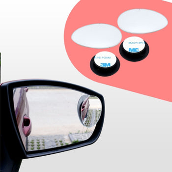 2pcs Car Rearview Mirror Blind Spot Side Convex View Wide Angle Adjustable