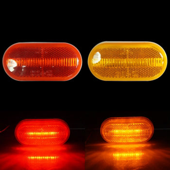 24V 4LED Side Marker Light Lamp Wing Red Yellow - KoreaAutoAccessory