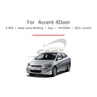 2pcs Hyundai Fit Accent 4 Door Head Lamp Cover Molding - KoreaAutoAccessory