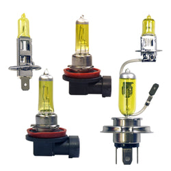 12V 100W Pure Yellow Halogen Fog Light Bulbs H1 H3 H4 H8 H11 2pcs-Plug-n-Play - KoreaAutoAccessory