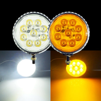 12V-24V Round 4.5W 9LED Work Warning Fog Light - KoreaAutoAccessory
