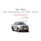 1pc Toyota Fit Hilux Chrome Bonnet Guard Molding Trim - KoreaAutoAccessory