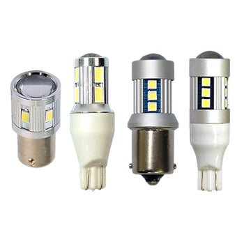 12V Car LED Miniature Bulb T15 Wedge S25 Ba15S Car Backup Reverse Light Highpower / 3030 Power - KoreaAutoAccessory